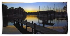 Beach Towel featuring the photograph Sunset Silhouette by Brian Wallace