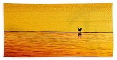 Sunset Silhouette Beach Sheet