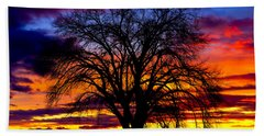 Beach Towel featuring the photograph Sunset Silhouette by Greg Norrell