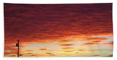 Sunset Strata Beach Towel