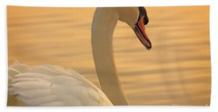 Sunset Swan Beach Towel