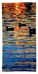Sunset Swim Beach Towel