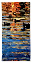 Sunset Swim Beach Towel by Robyn King