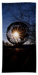 Sunset Through The Unisphere Beach Towel