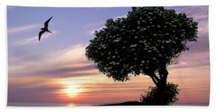 Sunset Tree Of Tranquility Beach Towel