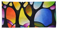 Sunset Trees Beach Towel by Sally Trace