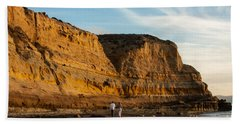 Sunset Walk At Flat Rock  La Jolla California Beach Sheet
