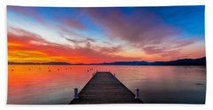 Sunset Walkway Beach Towel