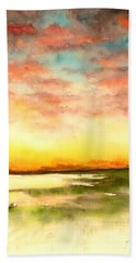 Sunset Beach Towel by Yoshiko Mishina