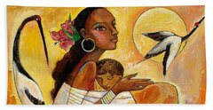 Sunshine Mother And Child Beach Towel