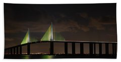 Sunshine Skyway Bridge Beach Towel by Beverly Stapleton