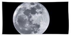 Super Moon Over Arizona  Beach Towel
