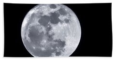 Super Moon Over Arizona  Beach Towel