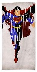 Superman - Man Of Steel Beach Sheet by Ayse Deniz