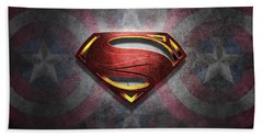 Superman Symbol Digital Artwork Beach Sheet