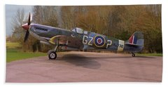 Supermarine Spitfire Hf Mk. Ixe Mj730 Beach Towel