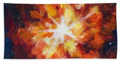 Supernova Explosion Beach Towel