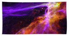 Supernova In Cygnus Beach Towel by Absinthe Art By Michelle LeAnn Scott