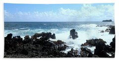 Surf At Hana Beach Towel by Fred Wilson