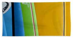 Surf Boards Beach Towel by Art Block Collections