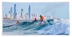 Surfing Burleigh Beach Sheet