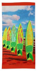 Beach Towel featuring the painting Surfs Up by Deborah Boyd