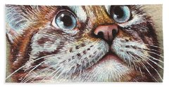 Surprised Kitty Beach Towel