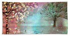 Fairytale Fantasy Trees Surreal Dreamy Twinkling Sparkling Fantasy Nature Trees Home Decor Beach Towel