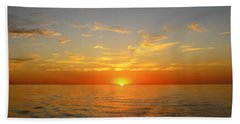 Surreal Sunrise At Sea Beach Towel