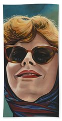 Susan Sarandon And Geena Davies Alias Thelma And Louise Beach Towel by Paul Meijering