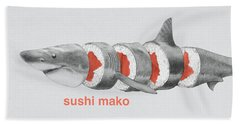 Sushi Mako Beach Towel