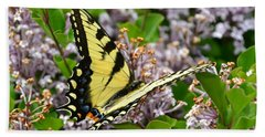 Swallowtail On Lilacs Beach Sheet