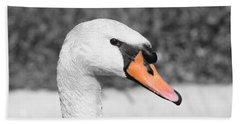 Swan Closeup Beach Towel