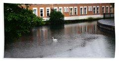 Swan In Dublin Beach Towel