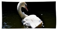 Beach Sheet featuring the photograph Swan Lake by Deena Stoddard