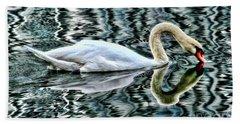 Swan On Lake Eola By Diana Sainz Beach Towel