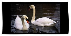 Beach Sheet featuring the photograph Swan Two by Elf Evans