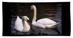 Swan Two Beach Sheet by Elf Evans