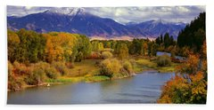 Swan Valley Autumn Beach Towel