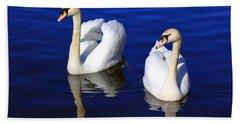 Swans On The Lake Beach Towel
