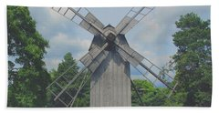 Beach Sheet featuring the photograph Swedish Old Mill by Sergey Lukashin
