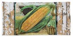 Sweet Corn On Vintage Tin Beach Towel