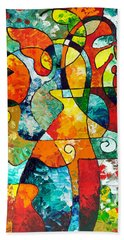 Sweet November Beach Towel by Sally Trace