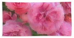 Sweet Pink Roses  Beach Towel by Gabriella Weninger - David