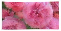Sweet Pink Roses  Beach Towel