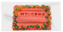 Sweet Welcome Mat Beach Sheet