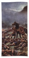Sweyns Poisoned Army, Illustration Beach Towel
