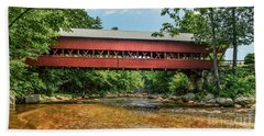 Beach Towel featuring the photograph Swift River Covered Bridge Hew Hampshire by Debbie Green