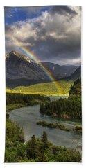 Swiftcurrent River Rainbow Beach Towel