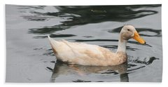 Swimming Duck Beach Sheet by Pamela Walton